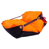 sedací vak BeanBag Duo 189x140 cm fluo orange - black