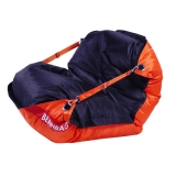 sedací vak BeanBag Duo 189x140 cm orange - black